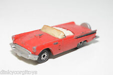 LESNEY MATCHBOX FORD THUNDERBIRD 1957 RED GOOD CONDITION