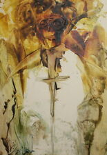 Abstract portrait Encaustic painting signed