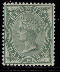 BERMUDA QV SG21a, ½d deep grey-green, LH MINT.