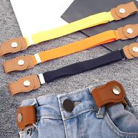 Children Fabric Elastic Belt Elegant Stretch Belt Buckle Free Jeans Waistband