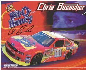 Chris Buescher Autographed 8 x10 Postcard L@@K