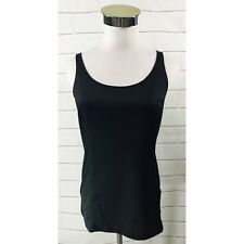 Bob Mackie Wearable Art Womens Solid Black Stretch Tank Top Camisole Shirt XXS