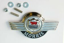 Morris Moggi Minor Early Bonnet Lid Badge, Austin Morris BPF128, AAA3958