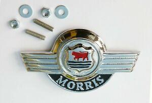 Morris (Moggi) Minor Early Bonnet Lid Badge, Austin Morris BPF128, AAA3958