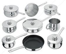 Stellar 1000 S1F2 9 Piece Set - 6 Saucepans, Steamer, Saute & Fry Pan