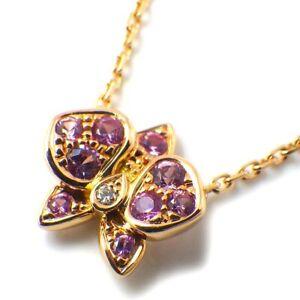 Auth Cartier Necklace CARESSE D'ORCHIDEES PAR Pink Sapphire 1P Diamond 750RG