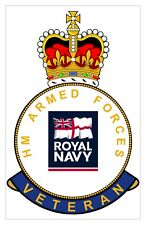 Classic HM Armed Forces Royal Navy RN Veterans specific Sticker