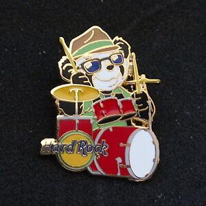 "Hard Rock Cafe NoNAME HRC • kazoo panda bear mystery set pin #7 ""drum player"""