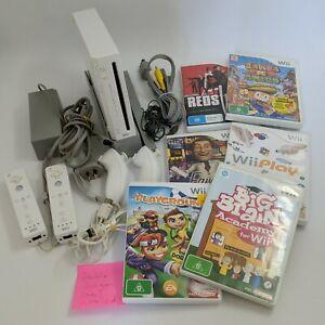 Genuine Nintendo Wii White Console Big Bundle 7x Games WiiMote Nunchuk PAL AUS
