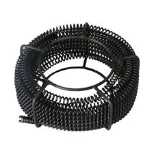 Plumber Drain Snake Pipe Cleaner Pipeline Sewer 12m With 6 Drill Bit Tool Black