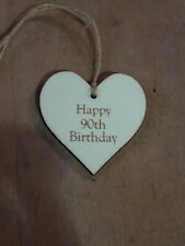 Handmade Wooden Gift Tags - 90th Birthday