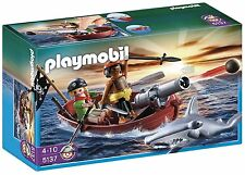 Playmobil 5137 Pirates Rowboat with Shark