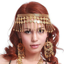 New Belly Dance Dancing Headdress Hairpin Head Buckle Headband Jewelry Gold