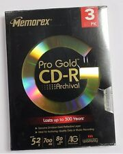 Memorex Pro Gold Archival CDR 80 Minute 3 Pack