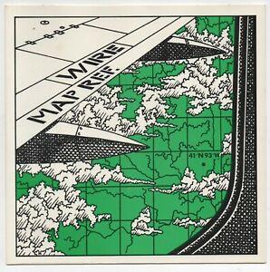 "Wire - Map Ref. 41°N 93°W B/W Go Ahead. Harvest UK HAR 5192 7"" Demo 1979"
