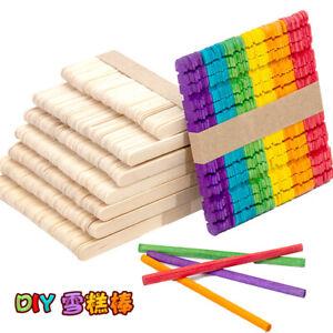 DIY Wood Popsicle Sticks Ice Cream Stick Cake Wooden Craft Hand Making Kit