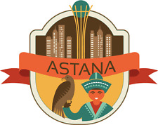"Astana Kazakhstan World City Travel Car Bumper Sticker Decal 5"" x 4"""