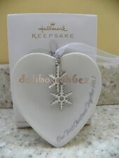 Hallmark 2012 Our First Christmas Together Porcelain Heart Christmas Ornament