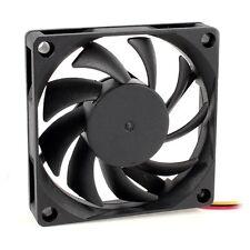 70x70mm 12V 3-Pin PC Computer Case CPU DC Brushless Cooler Fan Black ED