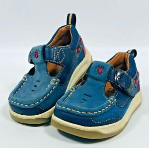 Clarks Emery Beat Toddler Suede Boots in Blue Standard Fit Size 5/½