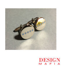 "Archived ACME Studio ""Dots Circle"" Cufflinks by Michael Graves"