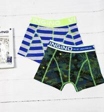 VINGINO Boxershorts Unterhose Gr. M  134 - 140  2-Pack Nick Grey Mele NEU