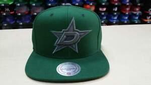 Mitchell & Ness NHL Dallas Stars Tonal Grey Team Logo Retro Snapback Cap Hat