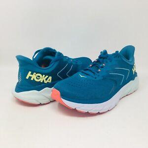 Hoka One One Women's Arahi 5 Mosaic Blue / Luminary Green Running Shoes 7.5 B