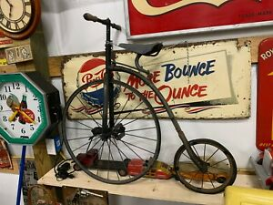 Vintage Original 1800's RARE Child's Big Wheel Penny Farthing Bicycle