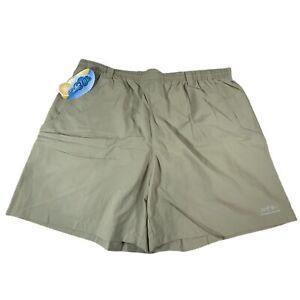 New Mens Columbia Sportswear Tan Swim Trunks PFG Packable Back Pocket Size XL