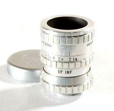 """Taylor Taylor Hobson 0.5"""" f1.9 Serital D-Mount Lens - 8mm Paillard Bolex Camera"""