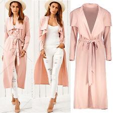 Autumn Long Jacket Coat Womens Ladies Long Sleeve Slim Fit Cardigan Outwear UK