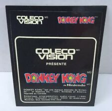 Donkey Kong Colecovision Cartridge Label Original Canadian French NOS