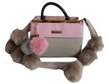 RIVER ISLAND FUR  POM POM BAG SMALL TOTE HANDBAG FLUFFY SHOULDER STRAP CHRISTMAS