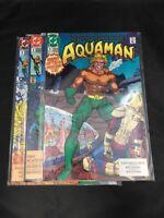 Aquaman # 1 - 3  DC Comics 1991 Aquaman Vol. 4 Mera Black Manta VF