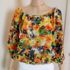 Apostrophe Floral Print Blouse Size XL