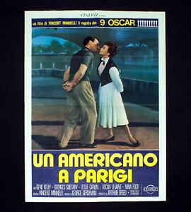 UN AMERICANO A PARIGI manifesto poster Kelly An American in Paris Musical D93