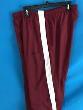 NIKE  Athletic Sweat Pants  Mens LARGE L Lg Vintage Maroon White
