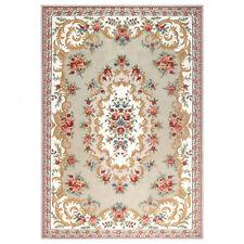 Traditional Persian Style Area Rug Handmade Beige Floor Carpet Large 6'x8'