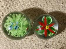 Paperweight Art Glass Murano Style 2 Pcs.