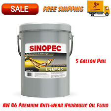 AW 46 Premium Anti-wear Hydraulic Oil Fluid - 5 Gallon Pail (18L - 4.75 GAL)