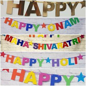 Hindu festivals religious Banner bunting deco diwali lohri saraswati Sikhism
