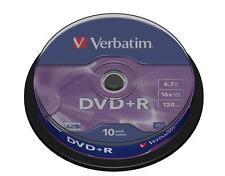 Campana 10 DVD DVD+R Verbatim 4.7GB 16x 120min