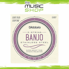 D'Addario EJS57 Steel 5-String Banjo Strings - Custom Medium 11-22 - Daddario