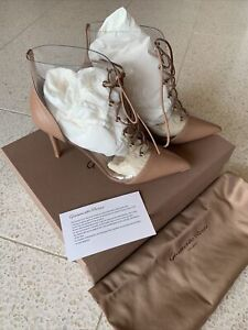 Authentic New Gianvito Rossi 85 Ankel Boots, Size 37.5