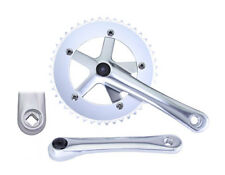 "New Single Speed Fixie Fixed Gear Crankset Silver 170mm Square Taper 9/16"" 44T"