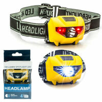LED Headlamp Flashlight Camping Ride Running Head Torch Safety Battery Operated