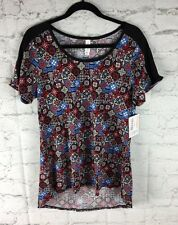 LuLaRoe, NEW; Classic Tee, Large L; Red Blue And Black Print, New With Tags