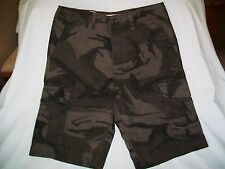 SONOMA, GRAY/BLACK CAMO, CARGO SHORTS, RIP STOP COTTON , SIZE: 30,NEW W/TAGS