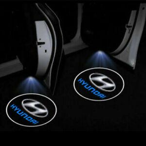 2× LED Logo Door Courtesy Light Shadow Laser Custom Projector For Hyundai Sonata